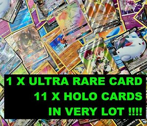 Pokemon Card LOT 50 OFFICIAL TCG Cards Ultra Rare Included  GX EX VMAX V + HOLOS