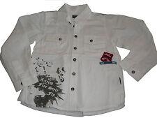 Kanz tolles Hemd Gr. 116 weiß mit Druckmotiv !!