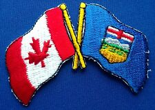 Canada / Alberta Flag Patch Embroidered Iron On Applique