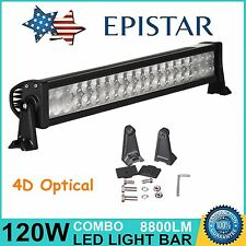 """22"""" 120W LED Work Light Bar 4D Optical Combo Off Road Driving Lamp 4WD UTE SUV"""