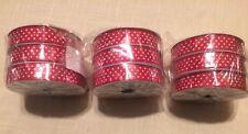 Red Polka Dot Ribbon Lot Of 9