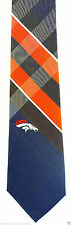 Denver Broncos Grid Mens Necktie NFL Football Plaid Team Sports Fan Gift Tie New