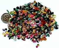100+carats Lot Natural Tourmaline Rough Multi  Color Crystals Kaleidoscope Craft