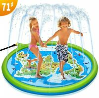 PELLOR Kids Sprinkle and Splash Pad Water Play Mat, PVC Sprinkler Cushion
