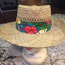 4ab14254 Vintage Mens Medium Panama Jack Straw Hat Cover Made In USA