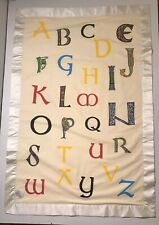 "Celtic Irish Baby Blanket 26.5"" X 40"" Alphabet"
