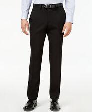 $200 KENNETH COLE men BLACK SLIM FIT FLAT FRONT DRESS SUIT PANTS 31 W 32 L