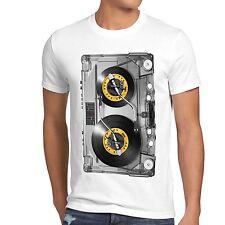 DJ Tape T-Shirt Herren mc musik disco 80er 90er retro kassette analog vinyl CD
