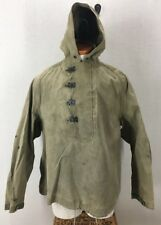 RARE WW2 USN Navy Foul Weather Pullover Deck Jacket W/ Metal Clasps