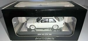 BMW 1991 M3 E30 DTM Coupe 1:43 scale model by AUTOart in Alpine White