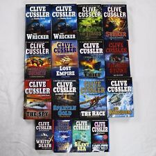 Lot of 16 Clive Cussler Books Includes The Wrecker The Tombs The Striker The Spy