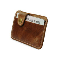 Leather Money Clip Artificial Credit Card ID Holder Portable Wallet Purse Bags