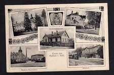 108723 AK Halbau Schlesien 1910 Bahnhof Buntweberei Villa Dr. Peipe Schloss Klei