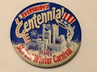 Vintage 1976 St. Paul Winter Carnival Pinback Button Bicentennial
