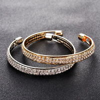 Fashion Women Rhinestone Chain Bracelet Cuff Wrap Bangle Jewelry Adjustable