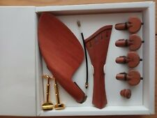 VIOLIN FITTINGS 4/4, PERNAMBUCO, PEGS, HARP TAILPIECE, CHIN REST, END PIN!