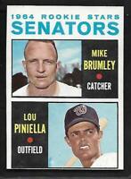 1964 Topps #167 Senators Rookie Stars Lou Piniella RC Rookie Card NICE NM