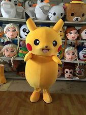Picachu Mascot Costume  Adults Pokemo Suit Halloween Party Cosplay Dress Outfits