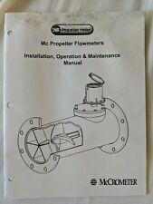 Mc Propeller Flow Meters Manual, McCrometer