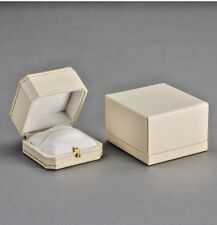 Ivory vintage luxury ring box perfect engagement proposals or wedding Cartiere