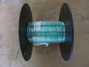 M22759/11-22-5 Wire Silver Plated Copper, Green Sheath, 250FT *New*