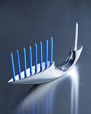 Chanukah MENORAH . . . . . . Aluminium metal menora, jewish judaica gift present