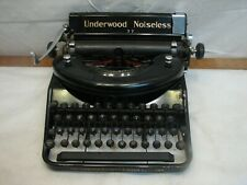 Vintage Underwood Universal Portable Noiseless 77 Typewriter 1936 Steampunk