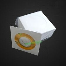 100pcs mini 8cm DVD Disc Sleeve Paper Case Cover Envelopes with Window and Flap