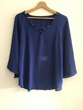 Ex River Island Navy Blouse Size 10