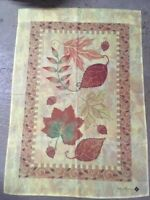 Golden Mosaic Fall Leaves Decorative House Flag