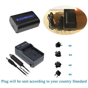 NP-FH50 Li-ion Battery Or Charger For Sony NP-FH30 NP-FH40 NPFH50 BC-VH1 BCVH1