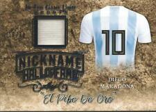 Diego Maradona 2019 Leaf In the Game Jersey Nickname /30 Blue Foil Argentina