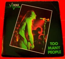 "Vardis Too Many People 7"" PC UK ORIG 1980 Logo VAR 2 b/w The Lion's Share VINYL"