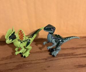 LEGO Dilophosaurus + RAPTOR  Ambush Dinosaur Minifigure LOT Jurassic Park
