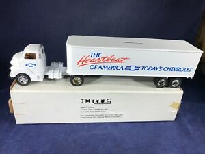 T2-30 ERTL 1:64 SCALE COLLECTABLE TRUCK BANK - CHEVROLET HEARTBEAT OF AMERICA