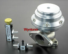 38MM 14-25 PSI External Wastegate Turbo Stainless Steel Valve Silver II + MBC