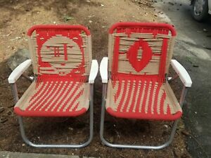 *Pair* of used knit 49ers lawn chairs - Man Cave Must Have