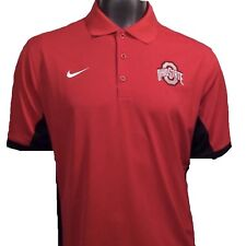 Ohio State Buckeyes Nike Dri-fit 657729 NCAA L Large Golf Polo Shirt Clearance