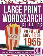Large Print Wordsearches Puzzles Popular Movies 1956 Giant Pr by Puzzles Wordsea