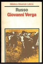 RUSSO LUIGI GIOVANNI VERGA LATERZA 1983 UNIVERSALE LATERZA 167
