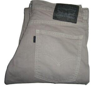 Hommes Levi's 511 Gris Clair (0051) Slim Fit Jeans Extensible W32 L32