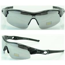 284 X Men Women Sports Mirrored Eyewear Running Cycling Sunglasses Black-Silver
