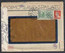 Dalmatia covers 1942 censored cover SPALATO postmarks