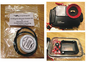 Replacement O-ring & Silicone Grease Kit for Olympus PT-47 Diving Housing Case