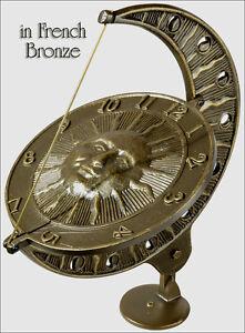 Whitehall Sun & Moon Sundial Rust Free French Bronze OR Copper Verdi Ships Fast!