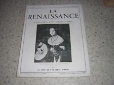 1935.revue La renaissance.exposition d'art italien à Paris.italie