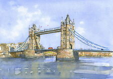 London Bridge - Hand Signed, Titled and Mounted Print with COA