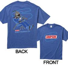 Simpson Racing Products T-shirt bleu.