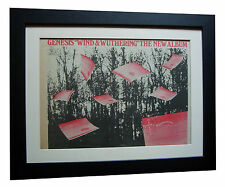 GENESIS+Wind & Wuthering+POSTER+AD+FRAMED+RARE ORIGINAL 1977+EXPRESS GLOBAL SHIP