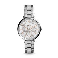 FOSSIL Uhr ES3939 JACQUELINE Damen Edelstahl Silber Armbanduhr marmoriert Datum
